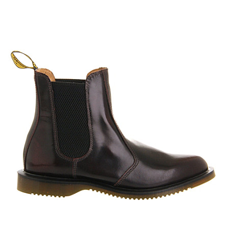 DR. MARTENS Kensington leather chelsea boots (Burgundy+leather