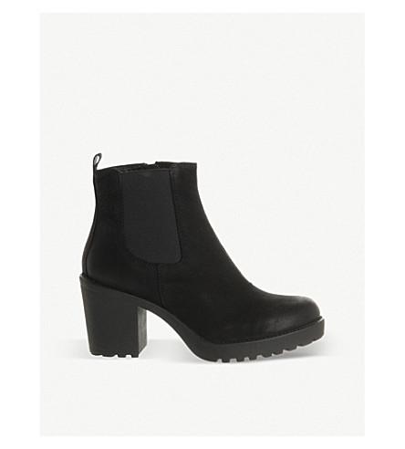 VAGABOND 优雅高跟鞋皮革切尔西靴 (黑 + 砂