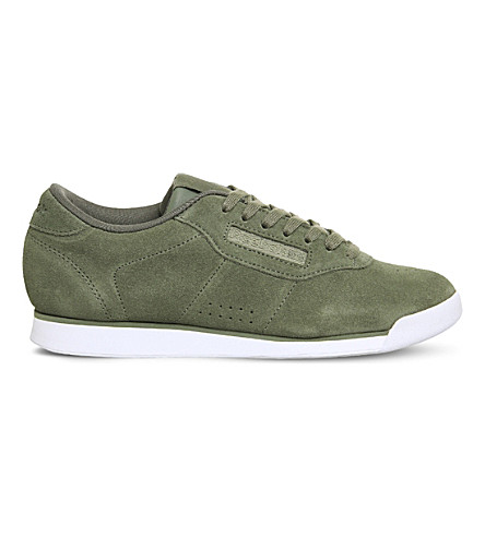 REEBOK Princess low-top suede trainers (Hunter+green+seaside