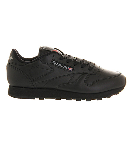 REEBOK Classic leather sneakers (Black+leather