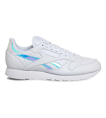 REEBOK Classic leather trainers (White+iridescent