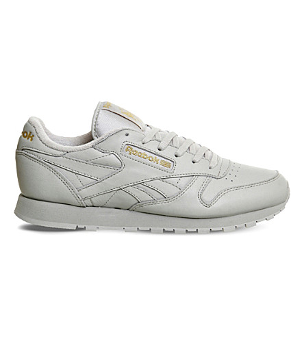 REEBOK Classic leather trainers (Grey+mono