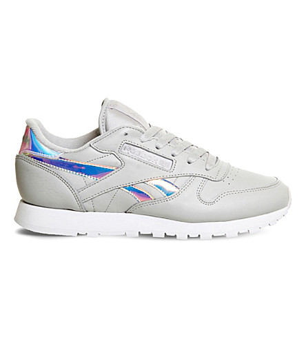 REEBOK Classic leather trainers (Skull+grey+white