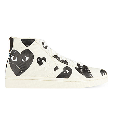 COMME DES GARCONS Converse high-top trainers (Black+heart