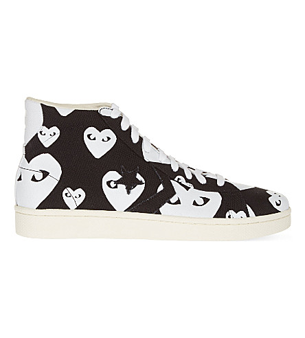 COMME DES GARCONS Converse high-top trainers (White+heart