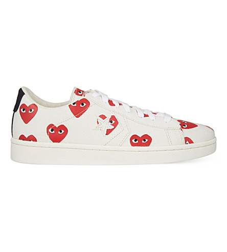 COMME DES GARCONS Converse Cons low-top trainers (White heart