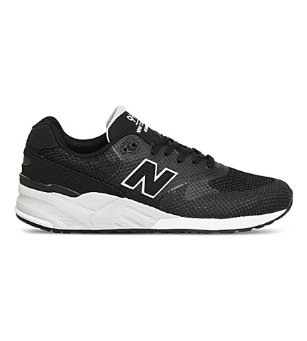 NEW BALANCE ML999 mesh trainers (Black+black+white