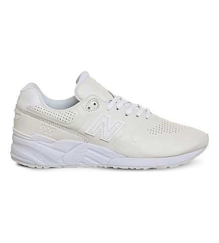 NEW BALANCE 999 leather and mesh trainers