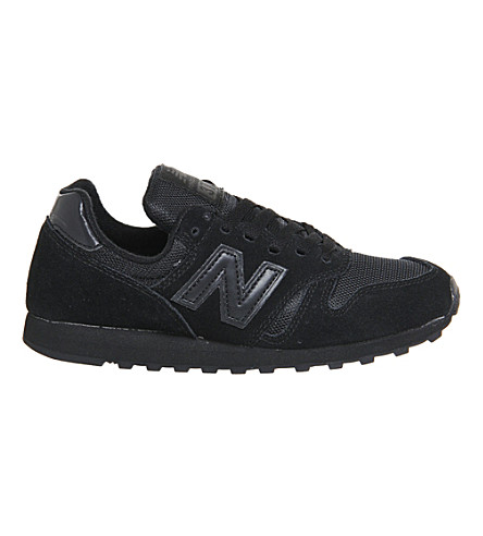 NEW BALANCE M373 suede and mesh trainers (Black+mono