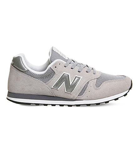 NEW BALANCE M373 suede and mesh trainers (Grey+silver