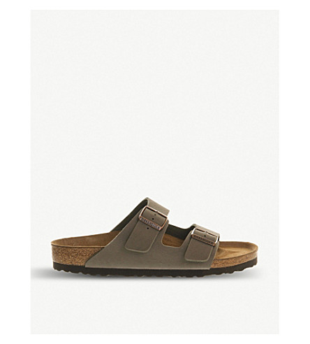 BIRKENSTOCK Arizona faux-leather sandals (Stone