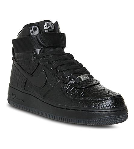 NIKE Air Force 1 high-top trainers (Black black croc