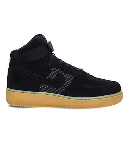 NIKE Air Force 1 suede trainers (Black gum 07 lv8