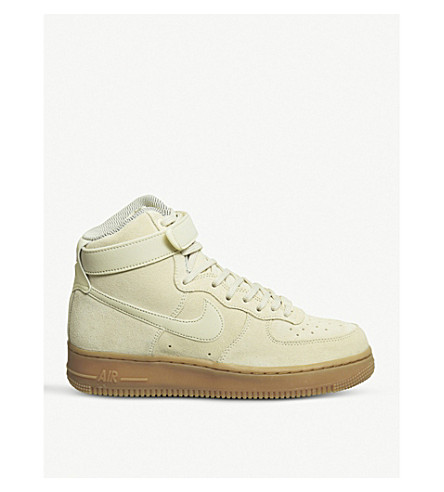 NIKE Air Force 1 suede high-top trainers (Muslin+gum