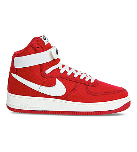 NIKE Air Force 1 high-top trainers (Gym red sail retro
