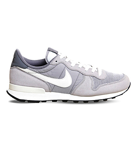 NIKE Internationalist leather and textile sneakers (Wolf+grey+sail+sail