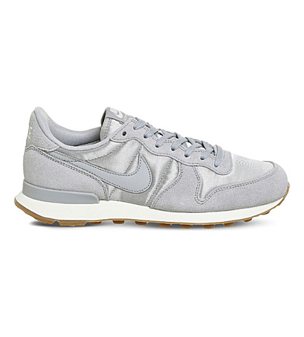 NIKE Internationalist suede and satin trainers (Wolf+grey+sail
