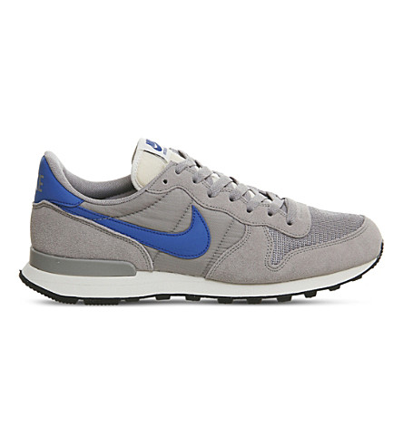 NIKE Internationalist suede and mesh trainers (Matte+silver+blue