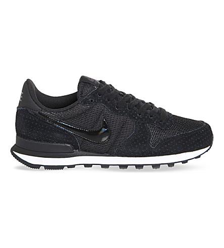 NIKE Internationalist suede sneakers (Black+dark+grey