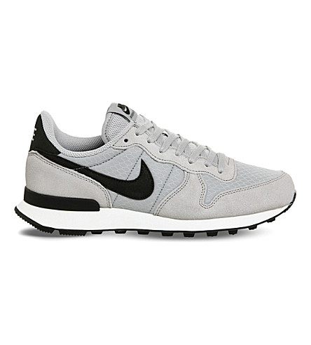 NIKE Internationalist leather and textile trainers (Wolf+grey+black