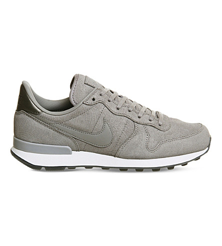 ... NIKE Internationalist iD leather and textile trainers  (Grey+metallic+silver. PreviousNext