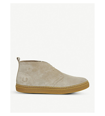 FRED PERRY Hawley suede trainers (Sandstorm