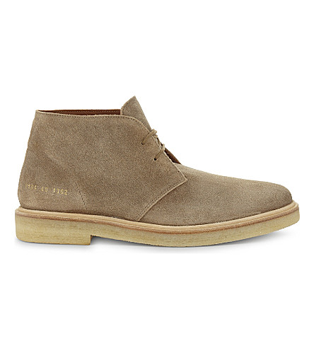 COMMON PROJECTS Chukka desert boot (Tan+suede