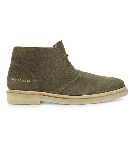 COMMON PROJECTS Chukka suede boots (Olive+suede