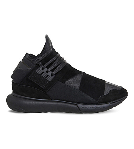 9c2ce65cb9338 ADIDAS Y3 Qasa high-top trainers (Black+mono+leather