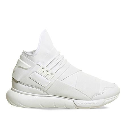 ADIDAS Y3 Qasa multi-strap high-top trainers (White mono