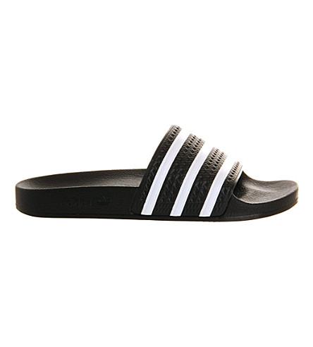 ADIDAS Adilette sliders (Black+white 32ad34dbaf68b