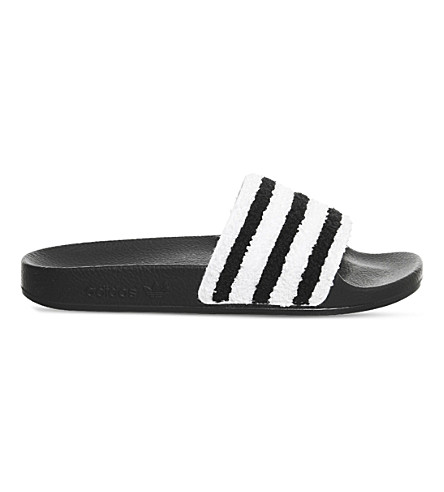 ADIDAS Adilette slides (Black+white+towl