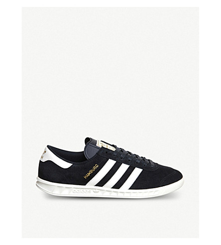 ADIDAS Hamburg suede trainers (Night navy white ex