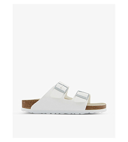 BIRKENSTOCK Arizona faux-leather sandals (White