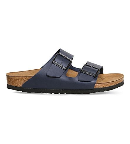 BIRKENSTOCK Arizona nubuck leather sandals (Navy