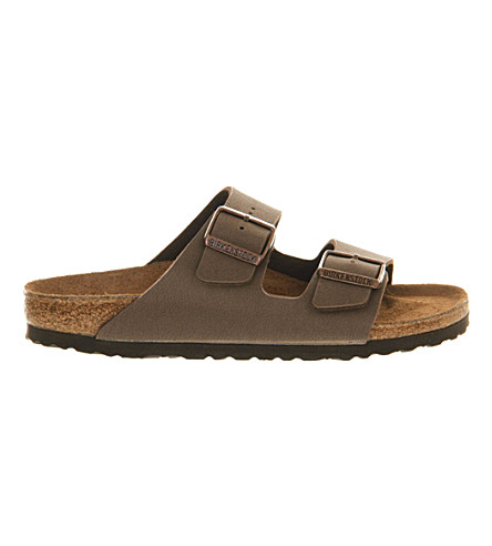 BIRKENSTOCK Arizona faux-leather sandals (Mocha