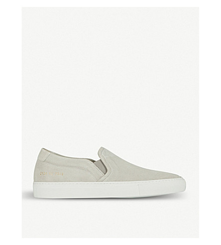 COMMON PROJECTS Slip-on suede skate shoes (Suede+grey