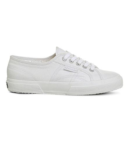 SUPERGA 2750 sparkle canvas sneakers (White+sparkle