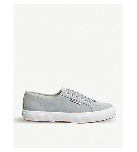 SUPERGA 2750 canvas trainers (Light+grey+suede