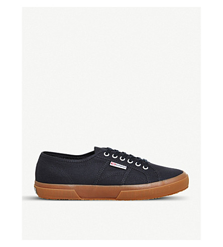 SUPERGA 2750 canvas trainers (Navy+gum