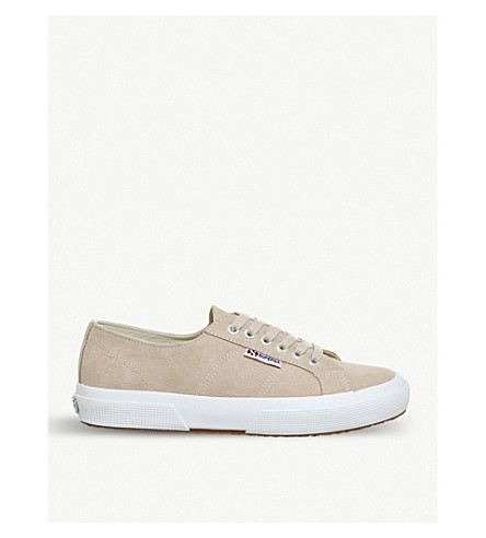 SUPERGA 2750 canvas trainers (Pink+skin+suede