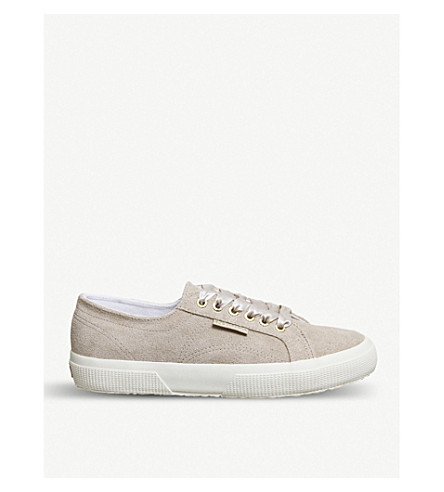 SUPERGA 2750 canvas trainers (Hummus+suede