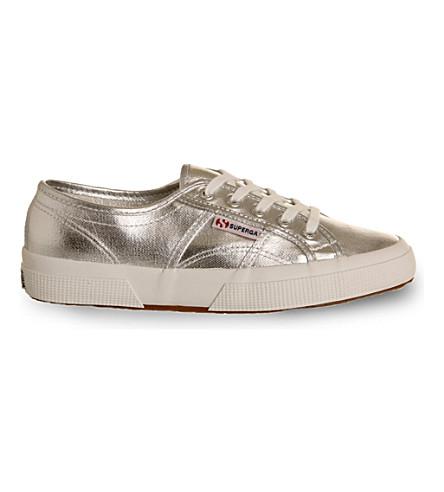 SUPERGA Cotu 2750 lace-up sneakers (Silver+cometu
