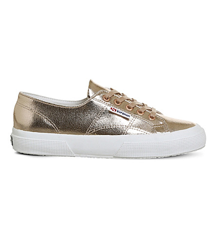 SUPERGA 2750 cracked rose-gold trainers (Cracked+rose+gold