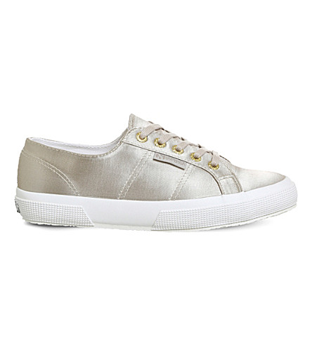 SUPERGA 2750 satin textile trainers (Champagne+satin