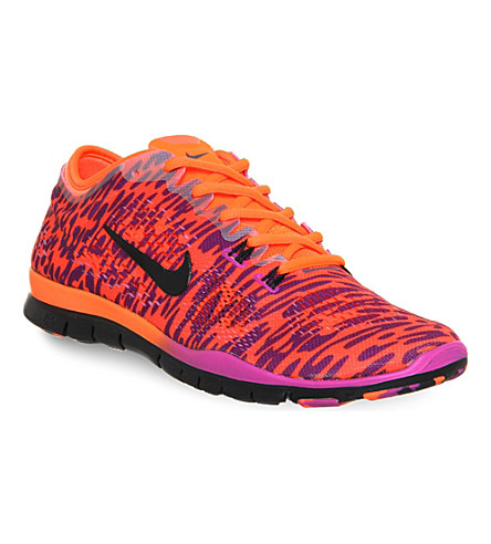 NIKE Free 5.0 tr fit 4 trainers (Magenta black