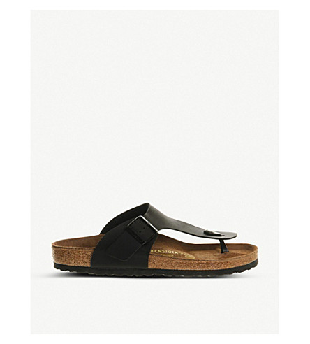 BIRKENSTOCK Ramses faux-leather thong sandals (Black
