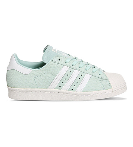 ADIDAS Superstar 80s leather trainers (Frost green white