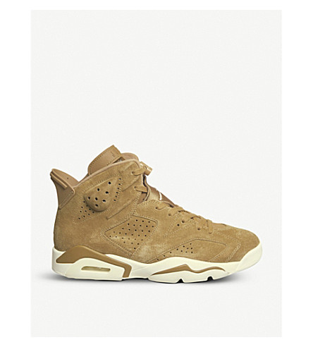 NIKE Air Jordan 6 Retro suede trainers (Golden+harvest+sail