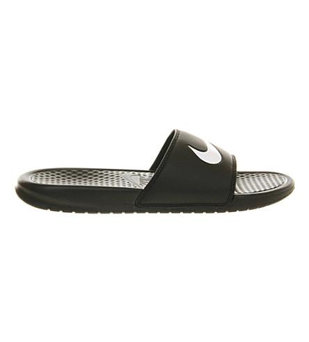 NIKE Benassi swoosh slider sandals (Black